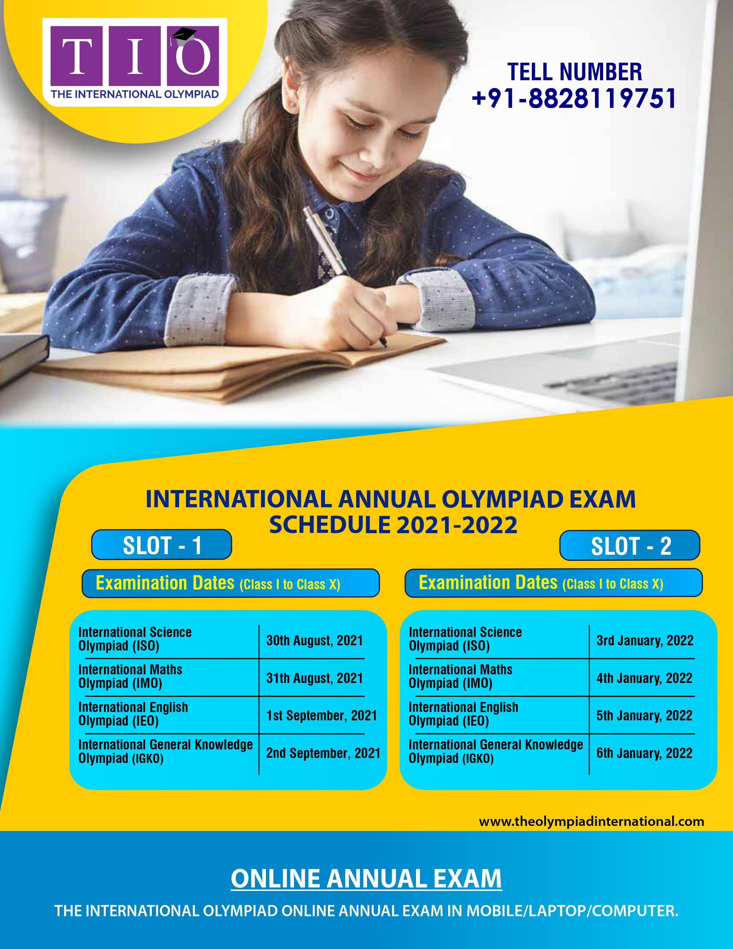 Annual Olympiad Schedule